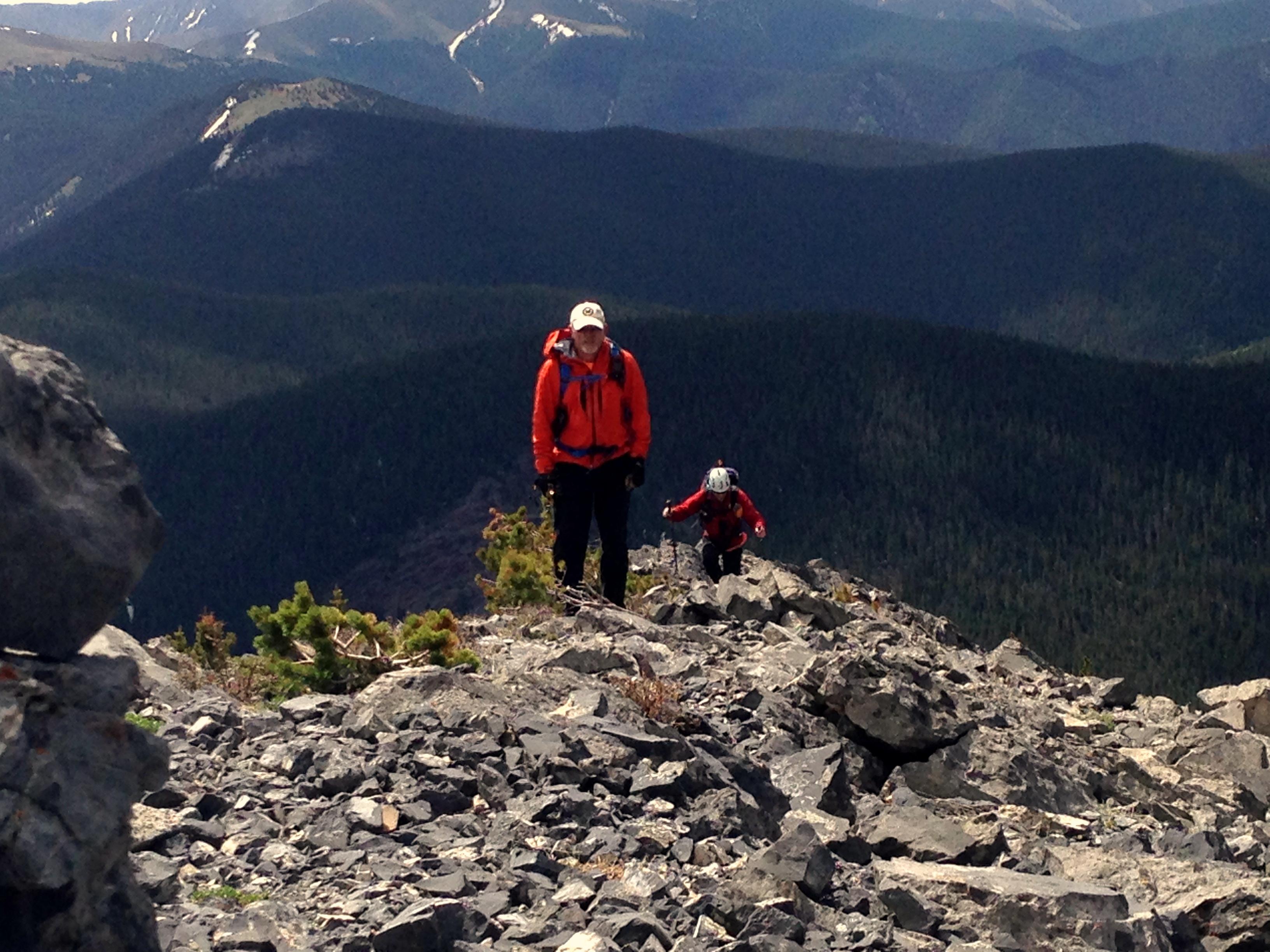 The slog up Galena Peak