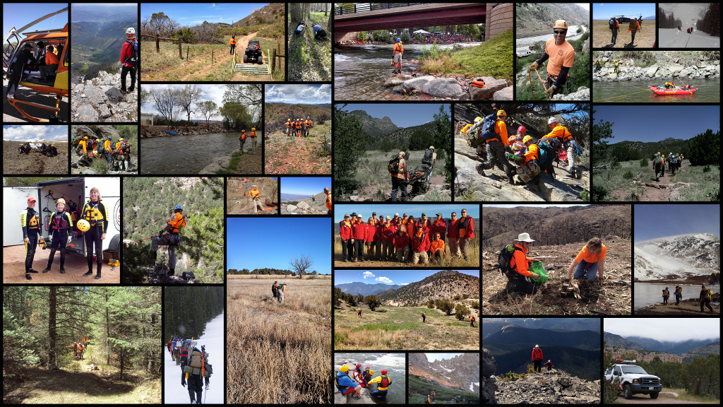 A collage of FSAR pictures taken at training and missions.